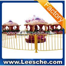 Carousel kiddie rdie/amusement park machine Small rotating castle LSJQ-017
