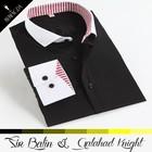 high end fashion good quality long sleeve custom dress shirt and tie