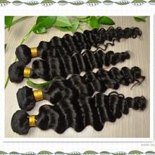 Quality grade 7a unprocessed brazilian virgin hair,brazilian loose deep wave hair weave