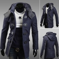 2015 winter British Style Trench Coat Men Long Double Breasted Men's Jackets Brand Outdoors Overcoat