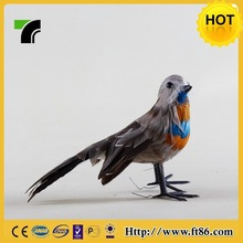 Handmade feathered festival decoration miniature birds