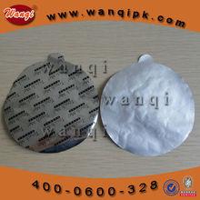 Universal aluminum foil seal liner for plastic gallon food