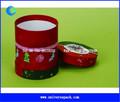 2015 diseño personalizado tamaño de impresión de papel ronda de caja de regalo de papel caja de papel del tubo