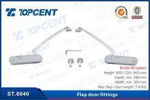 Bi-fold lift system for kitchen cabinet door