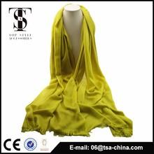 The new design wholesale plain color cotton shawl 2014