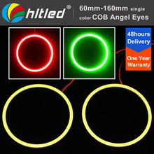 Bright Version Xenon White Universal Fit COB Projector Ring 100mm led angel eyes halo ring