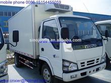 isuzu cargo van trucks wing van body articulated boom crane for truck fast food trailer
