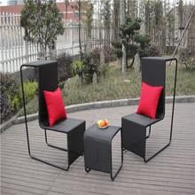 2015 new design creative rattan garden sofa furniture