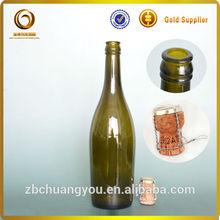 best quality empty glass champagne wedding bottles