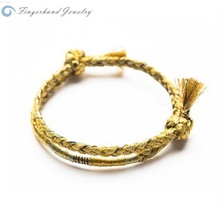 Top Sell Friendship Best Wishes Wholesale Colorful Chain Woven Italian Link Bracelet Charm