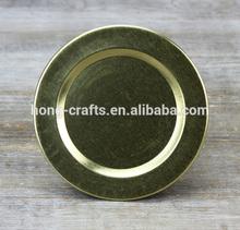 Modern Golden plain design fruit tin plate dishes