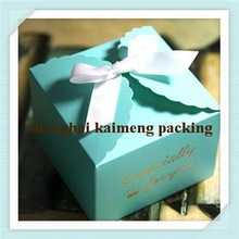 New decorative paper printing cake box packaging with silk