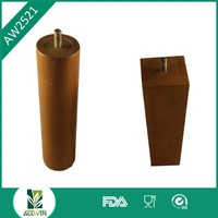 Durable material and design wood furniture leg