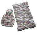 freddo cappello e sciarpa a maglia acrilico pom pom cappello e sciarpa