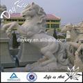 Tamanho natural granito cavalo estátua do jardim