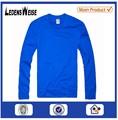 Personalizado de alta- calidad larga acogedor- manga de la camisa azul