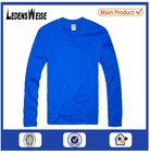 Customized high-quality cozy long-sleeve blue shirt