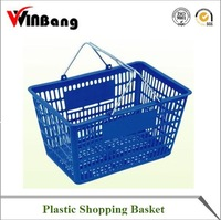 Winbang wholesale plastic carry shopping basket plastic Plastic Skep with Handle
