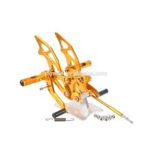 Gold Front Foot Pegs Set For Kawasaki Ninja 250 EX250 2008-2012 09 10 11 New