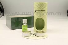 Ceramic aroma & fragrance oil burner with candle set & gift set
