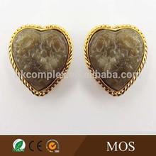 alloy rose gold resin earring