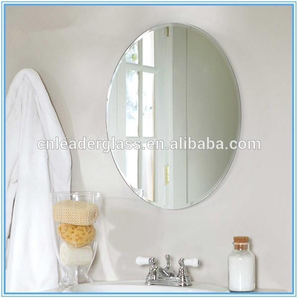 Haute qualit sans cadre ovale verre biseaut miroir pour for Miroir biseaute sans cadre