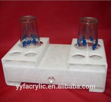 Luxurious design acrylic hotel amenity tray,hotel coffee trays