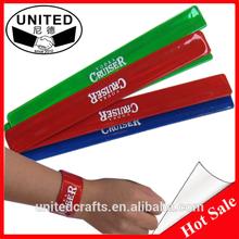 Design snap bracelets custom quality slap bracelets colorful hand band