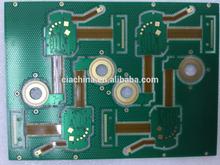 OEM 4 layer Multilayer ENIG Rigid-flex Printed Boards, Solder mask green
