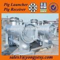 pig launcher e receptor para a limpeza da tubulação de óleo