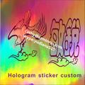 Etiqueta personalizada e uso de holograma udv material de impressão da etiqueta personalizada logo nomes, especial de alta segurança holográfico recurso labe
