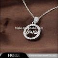 Fait à la main gravure sur bijoux en argent sterling pendentif symbole de l'amour éternel