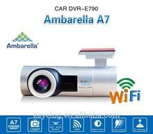 Newest design Wide View Angle Ambarella A7 car camera wireless car car dvr system