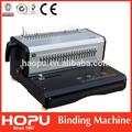 de metal hopu encuadernación en espiral de la máquina de encuadernación manual de la máquina