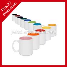11oz Blank Coated Rim Color Mug Sublimation Ceramic Mug