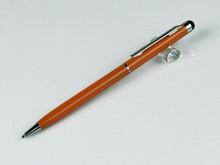 slim orange promotional touch screen stylus pen