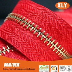alibaba china new gold chain design for men metal zipper roll