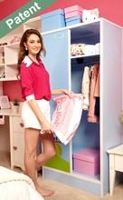 double door home diy plastic wardrobe/lourre furniture/cloth cupboard