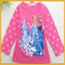 Kid Children Clothes Hot Selling T-shirt Kids Frozen T-shirt