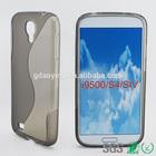 Black bulk cell phone case for Samsung Galaxy S4 SIV I9500