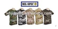 O-neck short sleeve camouflage t shirt