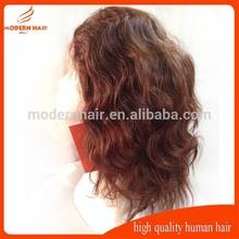 #4color 14inch 130%density short natural wavy jewish kosher european human hair wigs