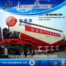 New bulk cement silo tanker truck trailer/ bulk cement tank semi-trailer