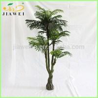 artificial decoraitve palm trees palstic trunk for house