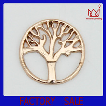Alloy floating locket plate tree fit origami owl floating locket