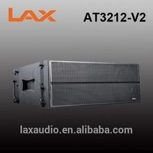 Dual 12-inch 3-way line array speaker box for big power sound system