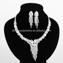 Elegant women rhinestone pendant necklace indian accessories for women