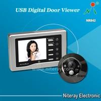 Shenzhen peephole manufacturers motion detection door eye viewer camera with IR infrared & USB