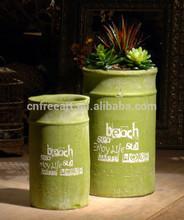 Antiguo pequeña venta al por mayor ollas de barro diseños para plantación