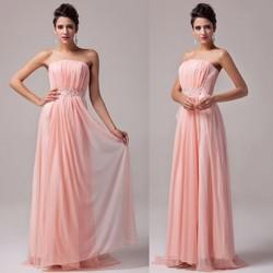 Grace Karin Ladies Strapless Long Pink Designer Evening Dress Patterns CL6008